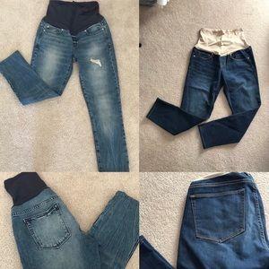 Gap Maternity Jeans Bundle (Size 6 Short)
